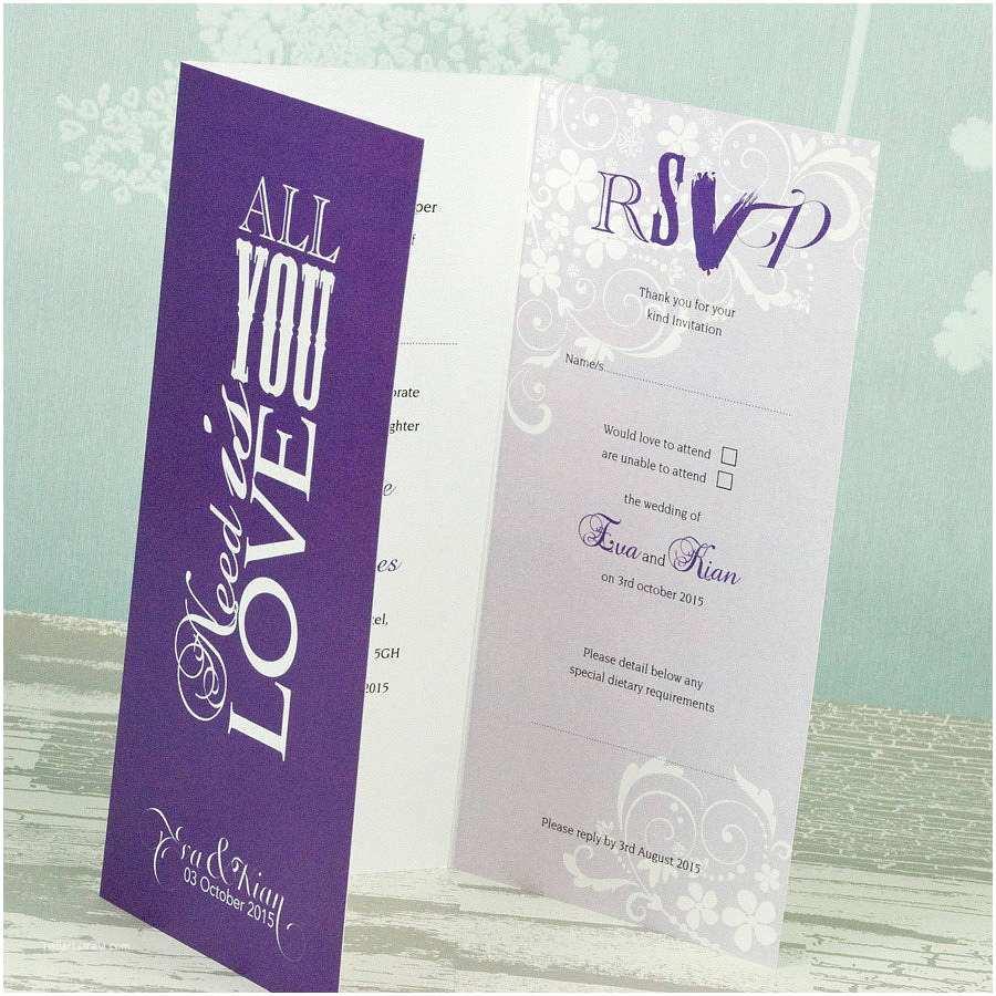 Folded Wedding Invitations Wedding Invitations Folded