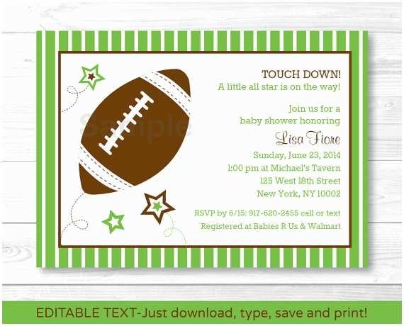 Football Baby Shower Invitations Cute Football Star Baby Shower Invitation Football Baby