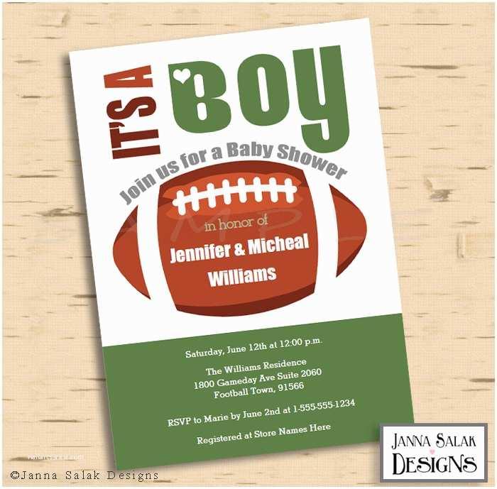 football theme baby shower invitation