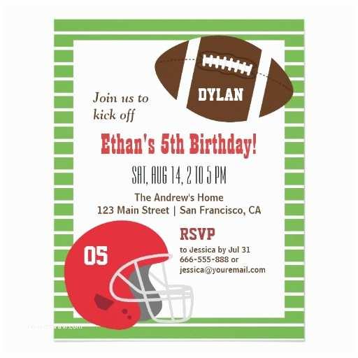 Football Birthday Invitations American Football Kids Birthday Party Invitations