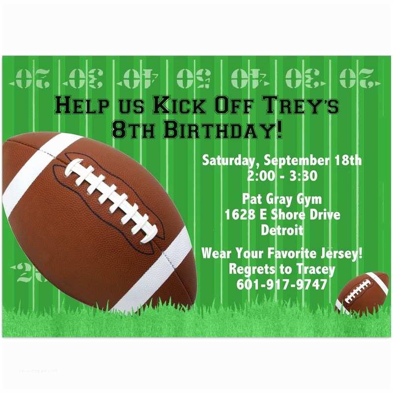Football Birthday Invitations Football Party Invitations – Gangcraft