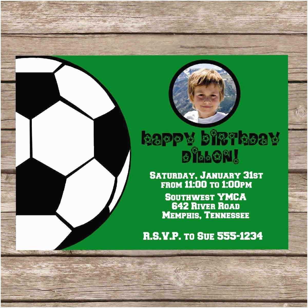 free football birthday invitations