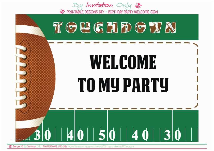 Football Birthday Invitations Free Football Party Printables From by Invitation Ly Diy