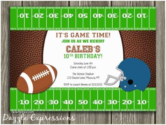 Football Birthday Invitations Free Printable Football Birthday Invitations