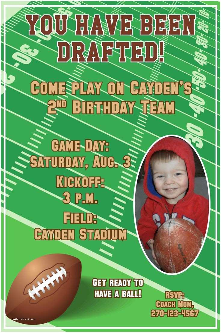 Football Birthday Party Invitations Best 25 Ideas On Pinterest