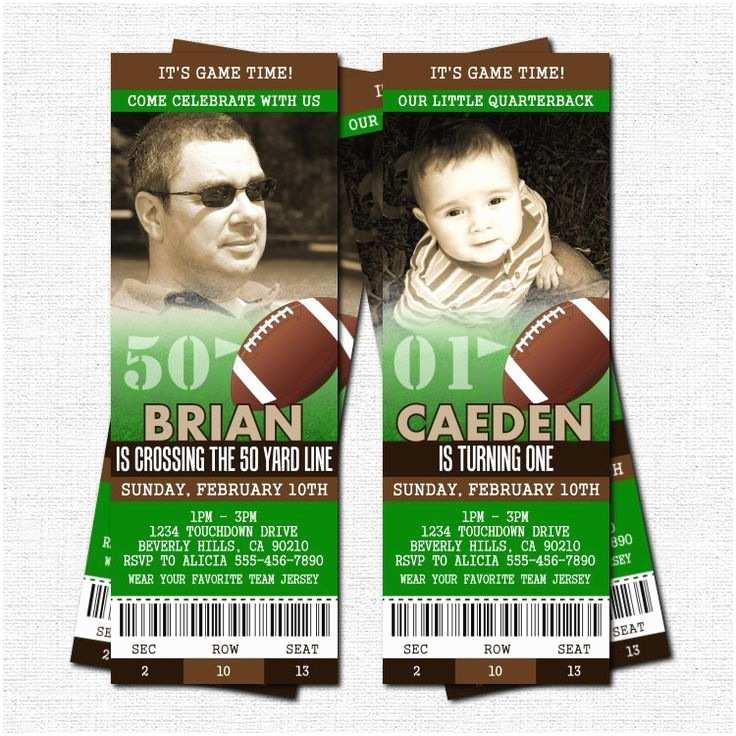Football Birthday Party Invitations Best 25 Ticket Ideas On Pinterest