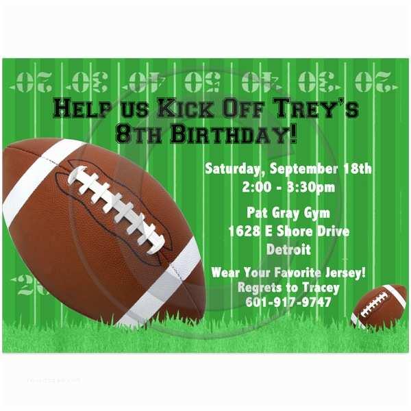 Football Birthday Party Invitations Football Birthday Party Invitation