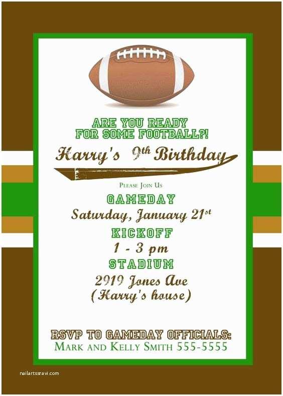 Football Birthday Party Invitations Football Football Parties and themed Birthday Parties On
