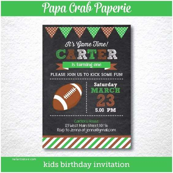 Football Birthday Party Invitations Instant Download Editable American Football Birthday