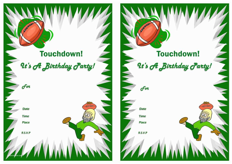 Football Party Invitations Football Birthday Invitations – Birthday Printable