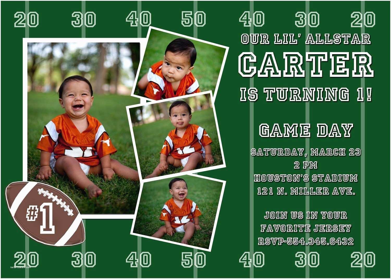 Football Party Invitations Football Custom Birthday Party Invitation by