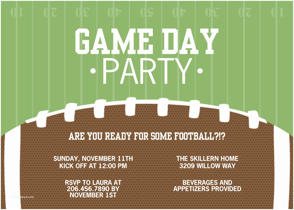 Football Party Invitations Football Party Invitations