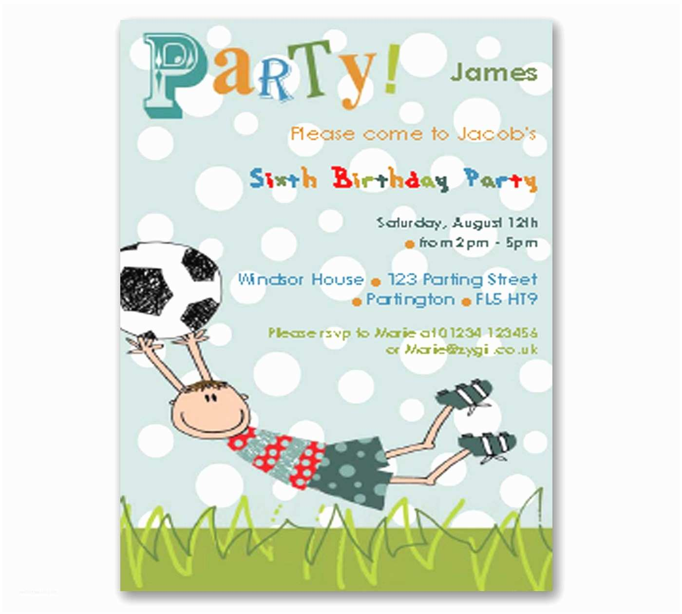 Football Party Invitations Football Printable Diy Party Invitation Editable Instant