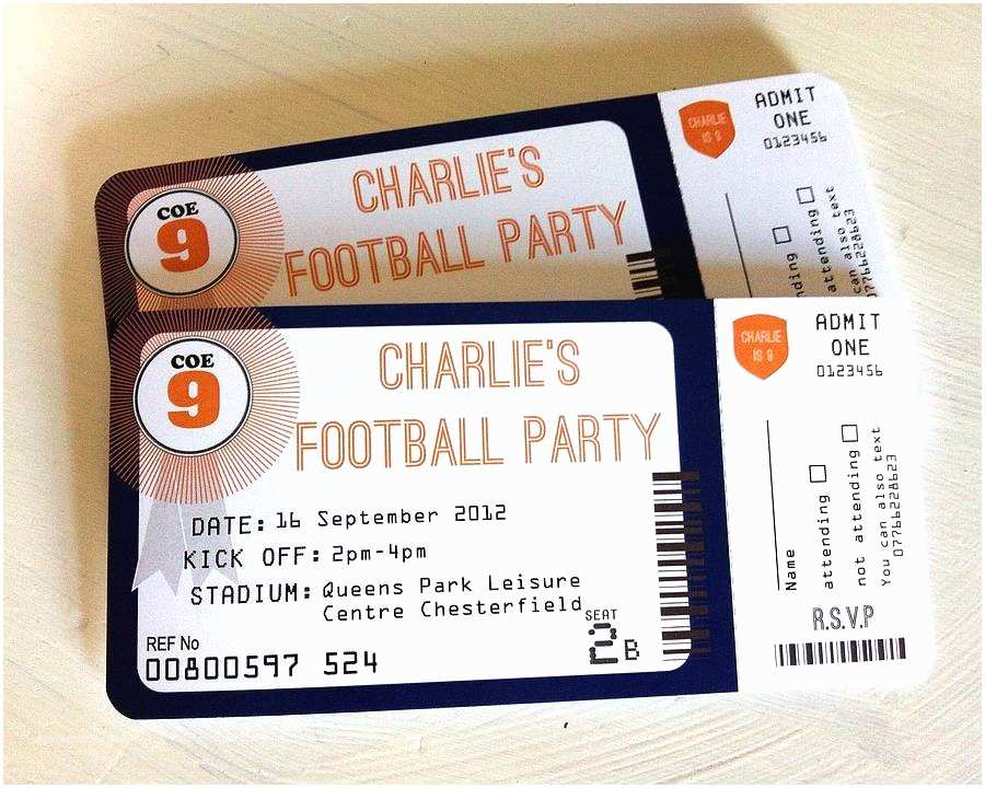 Football Party Invitations Pack Of 20 Football Party Invitations by Sweet Words