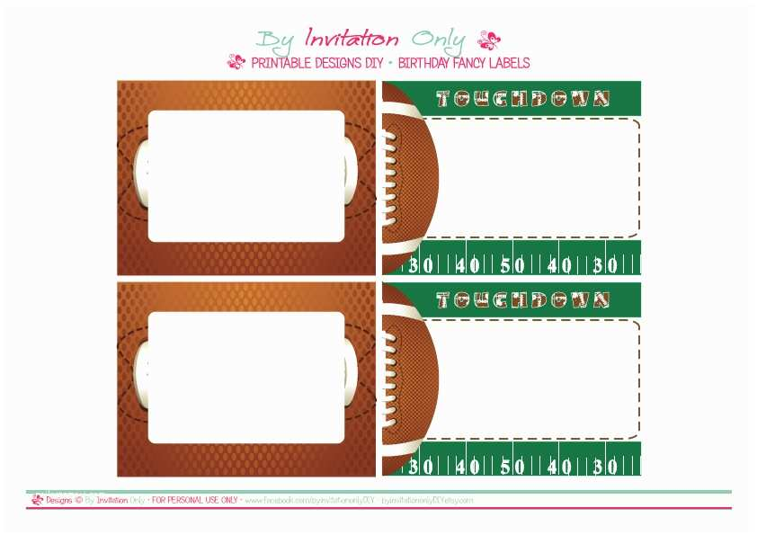 Football Party Invitations Templates Free 8 Best Of Football Ticket Templates Blank Printable