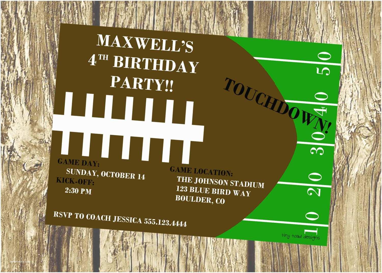 Football Party Invitations Templates Free Football Birthday Invitation Ideas