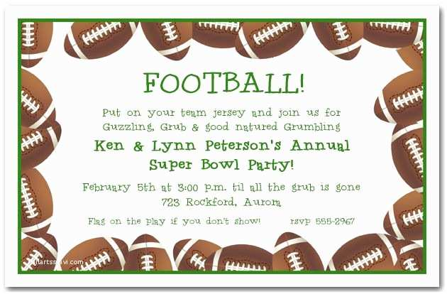 Football Party Invitations Templates Free Football Page