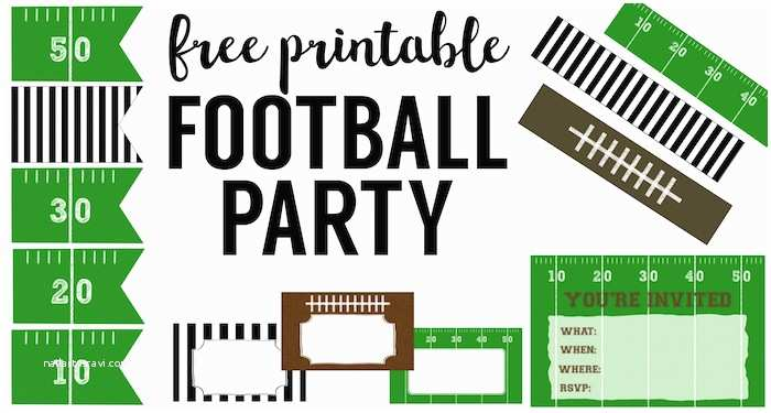 Football Party Invitations Templates Free Football Party Invitation Template Free