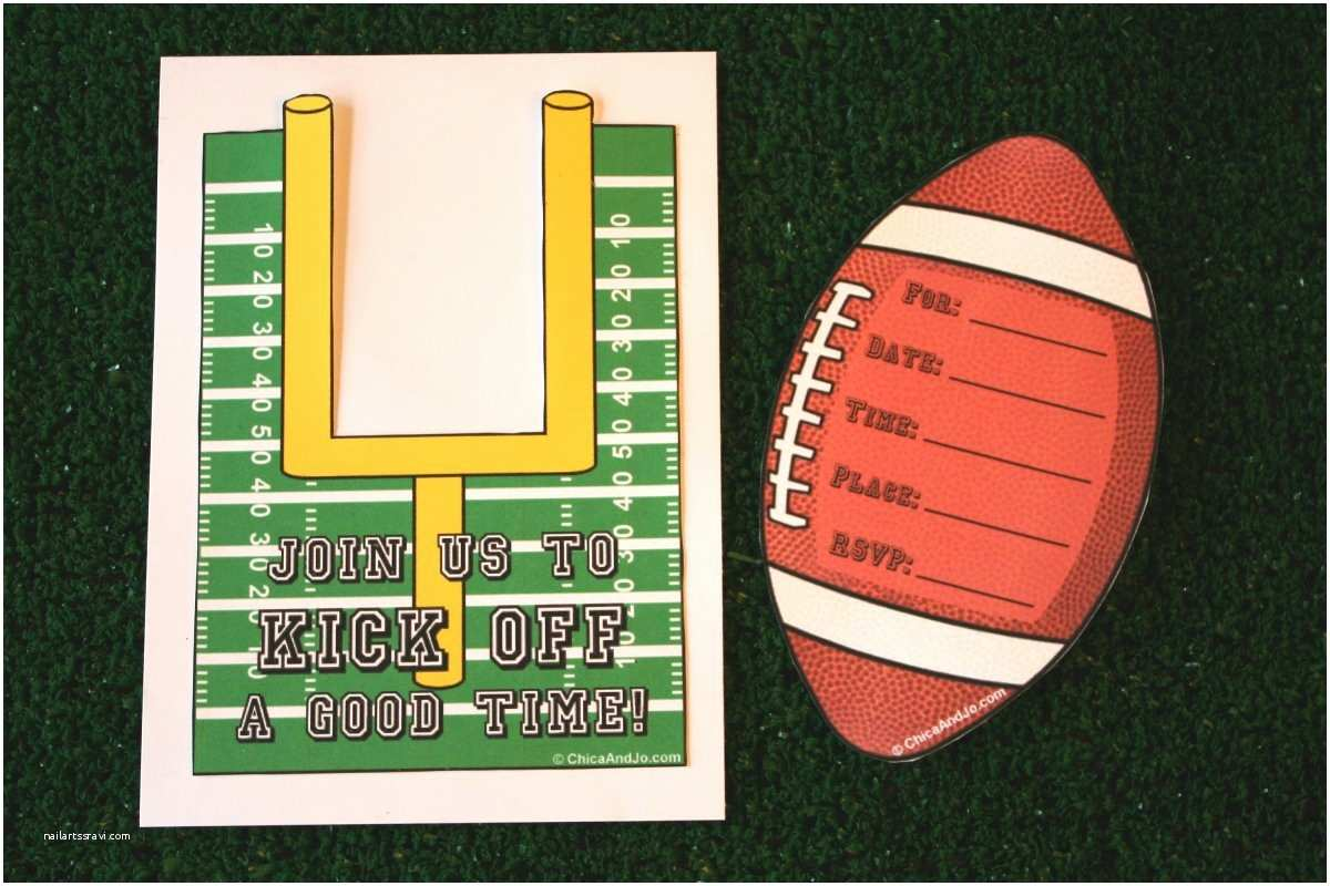Football Party Invitations Templates Free Football Party Invitation Template