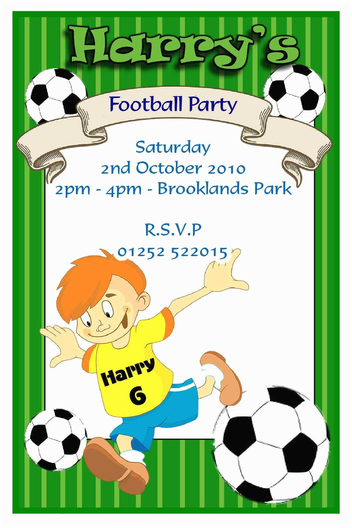 Football Party Invitations Templates Free Football Party Invitations –