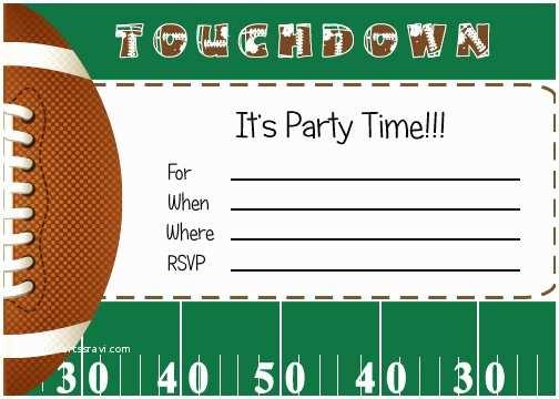 Football Party Invitations Templates Free Free Football Party Printables From By Invitation Ly