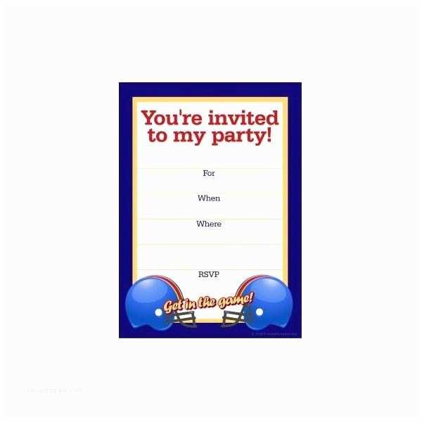 Football Party Invitations Templates Free Free Football Party Templates To Download From Line