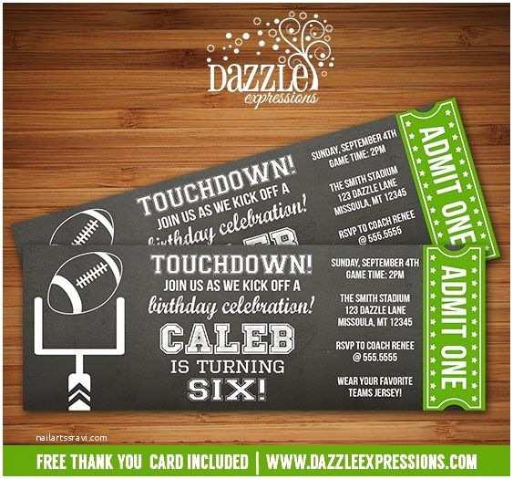 Football Party S Templates Free Printable Chalkboard Football Ticket Birthday