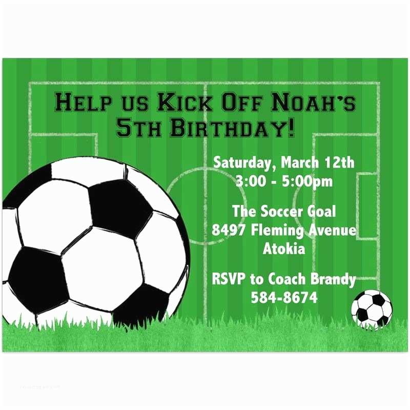 Football Party Invitations Templates Free soccer Party Invitation Template Free Party