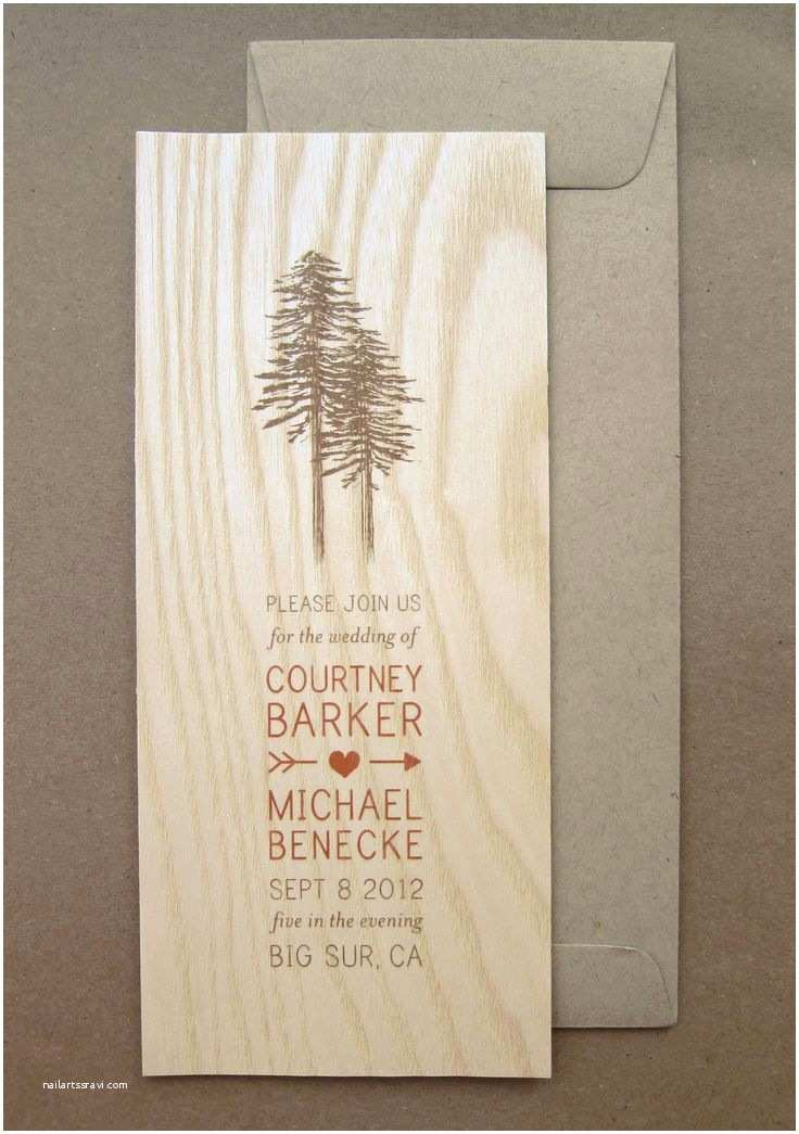 Forest Wedding Invitations 1000 Ideas About Wood Wedding Invitations On Pinterest