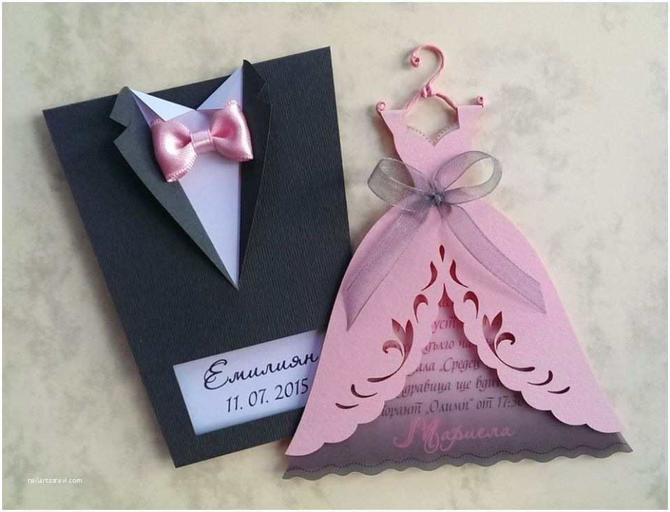 "Formal Attire On Wedding Invitation Bridal Wedding Invitations ""bride And Groom"""