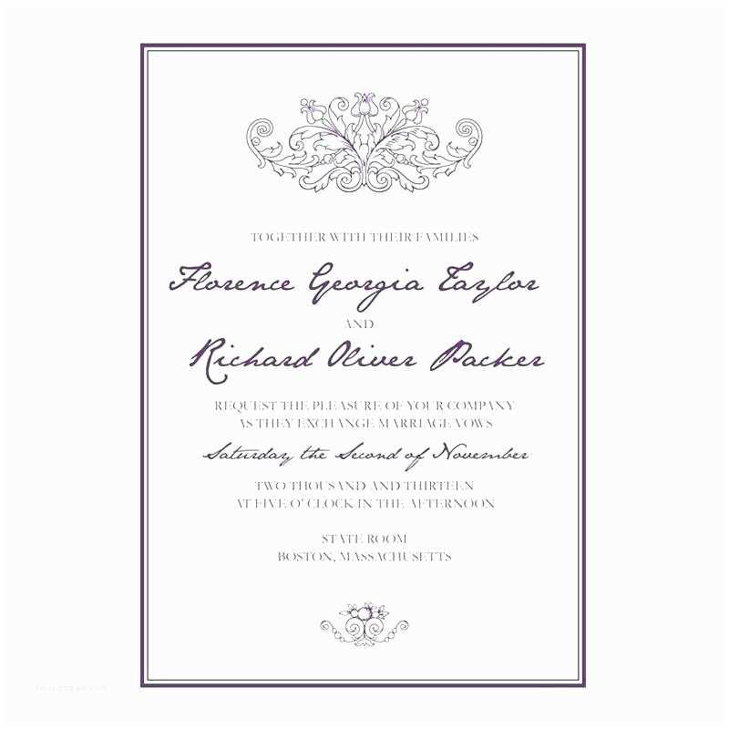 Formal  On Wedding Invitation Formal  Wedding Invitation Feat Formal