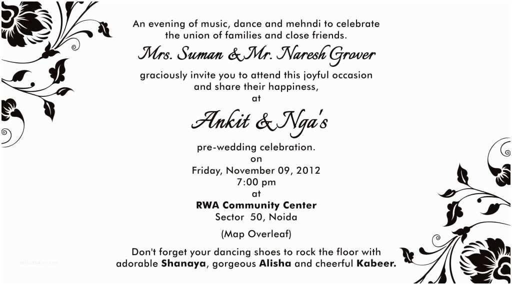 Formal Attire On Wedding Invitation Semi Formal Wedding Invitation