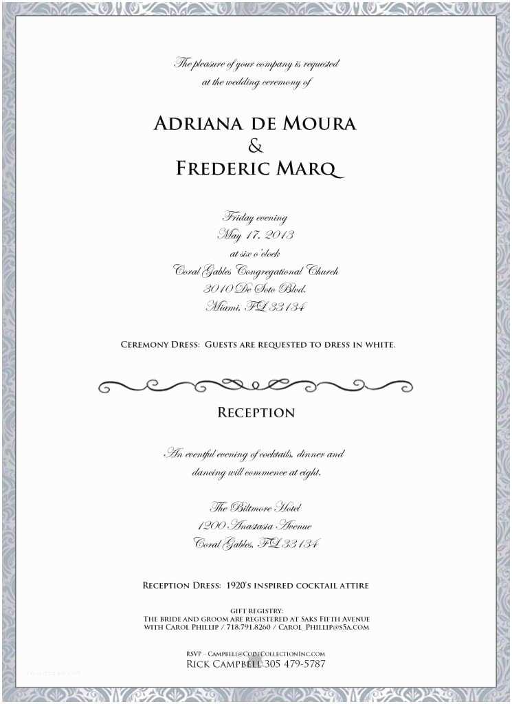Formal Attire On Wedding Invitation Formal Wedding Reception Dress Code Bridesmaid