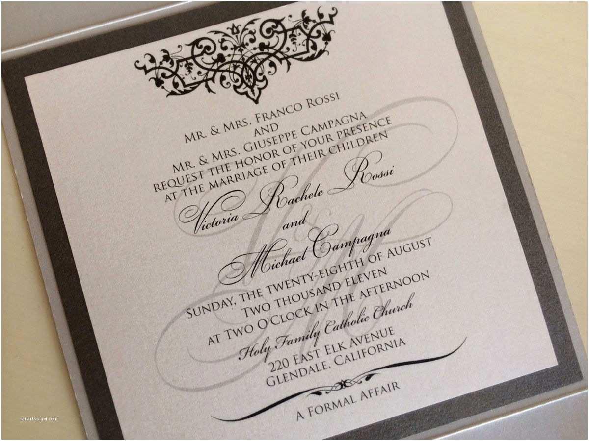 Formal Attire On Wedding Invitation Wedding Invitation Formal Attire