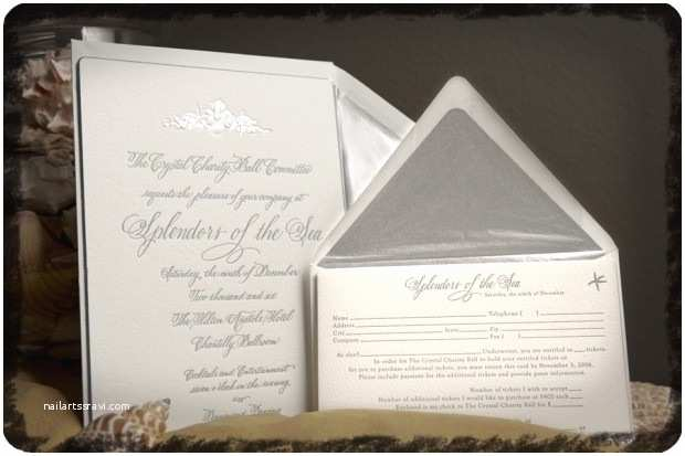 Formal Beach Wedding Invitations Beach theme Wedding Invitation formal Corporate Party
