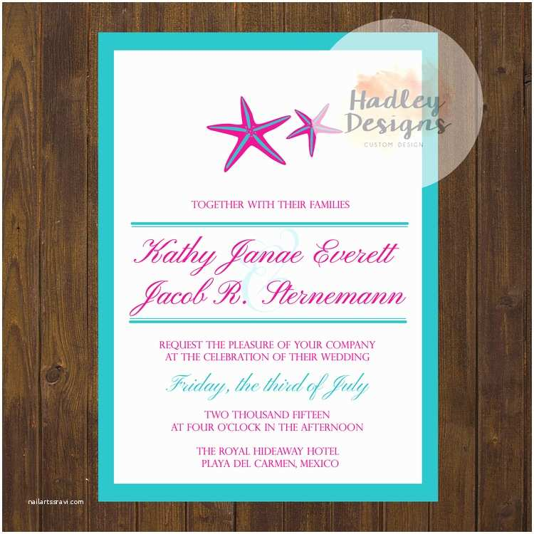 Formal Beach Wedding Invitations Hadley Designs Beach Destination