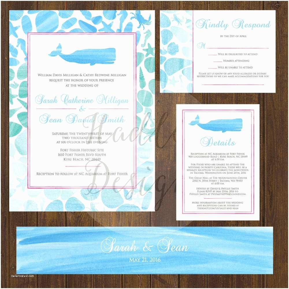 Formal Beach Wedding Invitations Hadley Designs Beach Destination