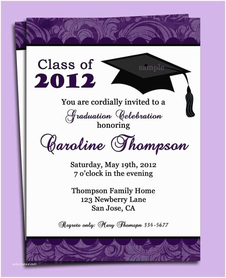 Formal Graduation Invitations formal Graduation Invitation Template