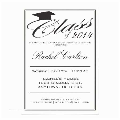 Formal Graduation Invitations Simple formal Graduation Celebration Invitation