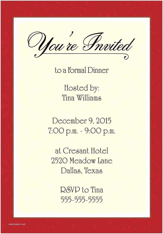Formal Party Invitation formal Birthday Invitation Templates Cloudinvitation