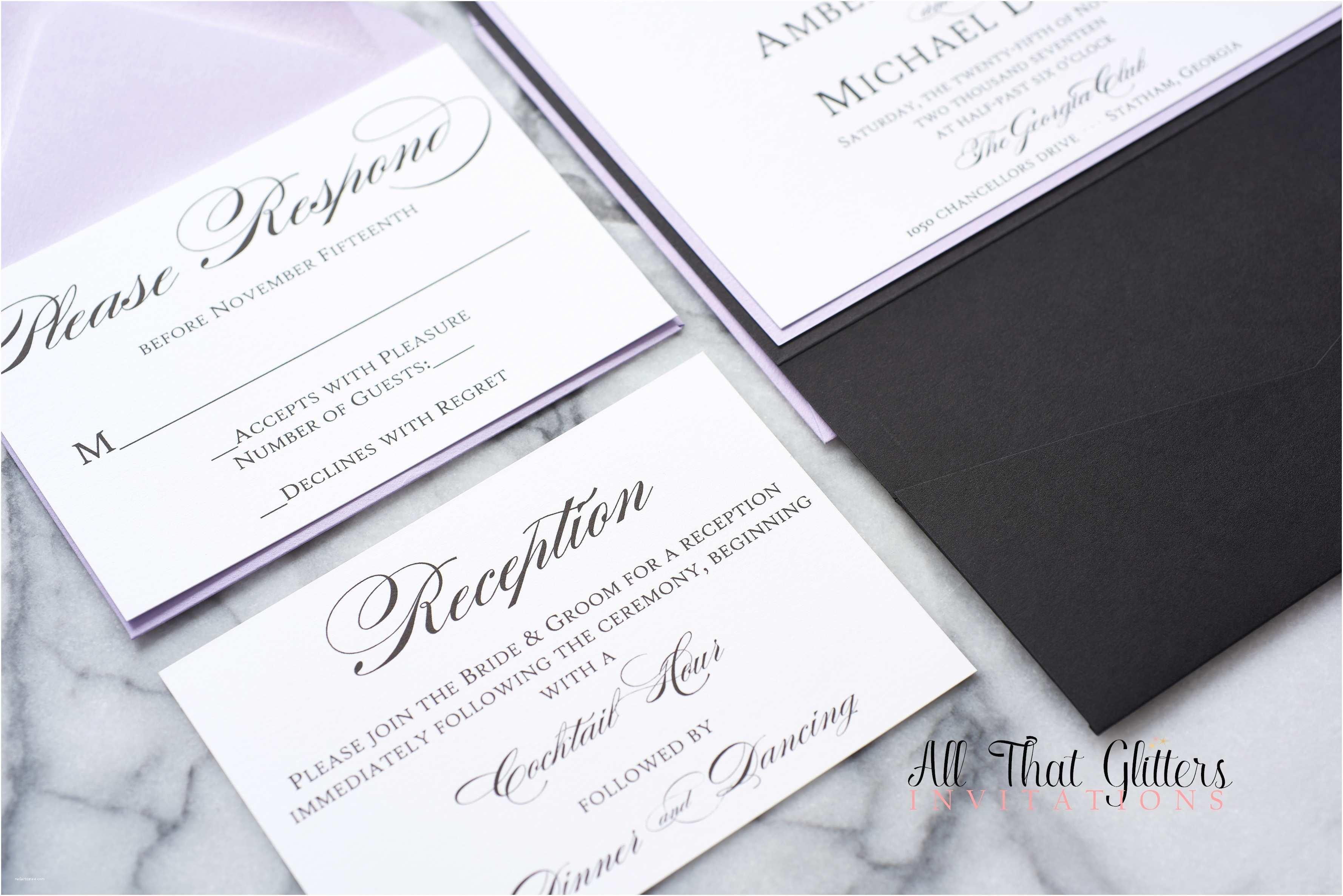 Formal Wedding Invitations Amber formal Wedding Invitation Suite