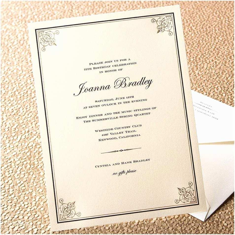 Formal Wedding Invitations formal Dinner Party Invitation Wording