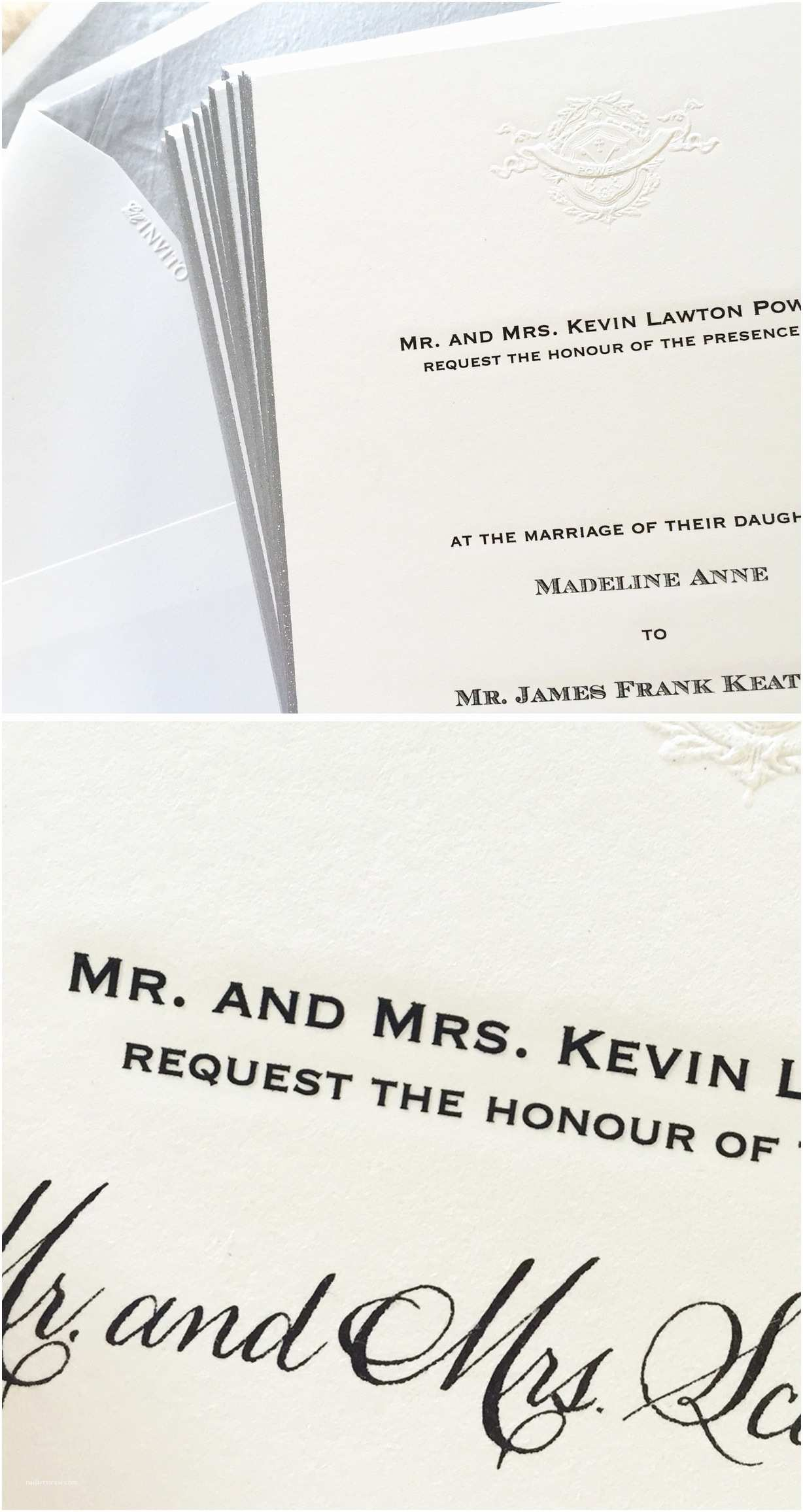 Formal Wedding Invitations formal Wedding Invitations with Written Guest Names
