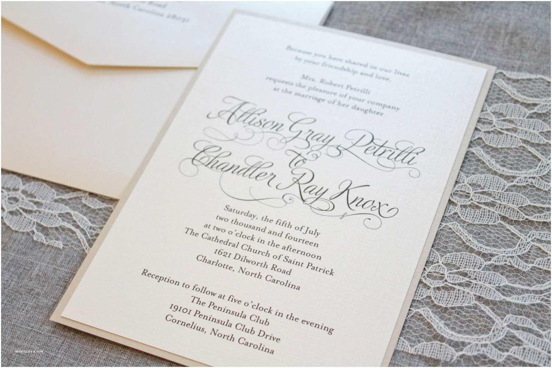 Formal Wedding Invitations Ivory Wedding Invitations Gold formal Wedding Ceremony