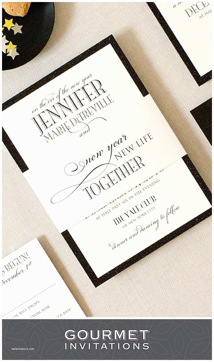 new years eve formal wedding invitations