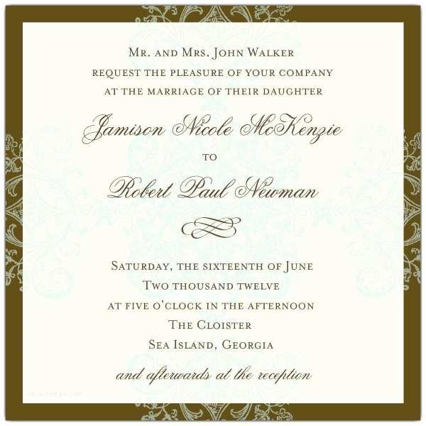 Formal Wedding Invitations Wedding Invitations formal Pattern Blue Square