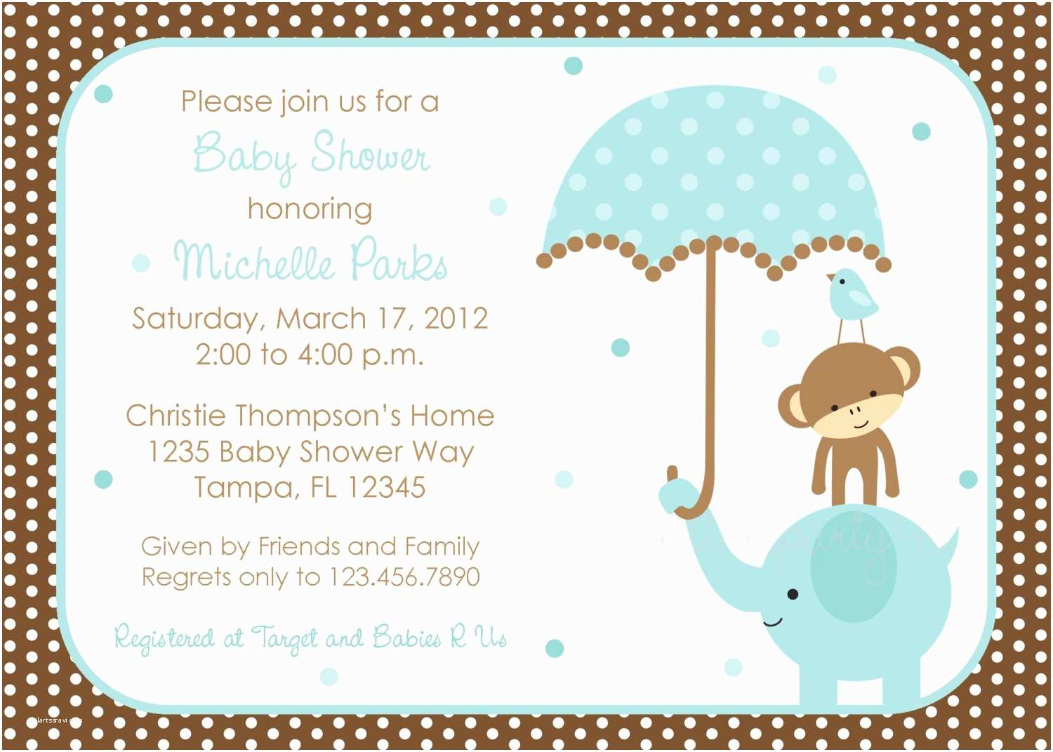 baby boy shower invitations