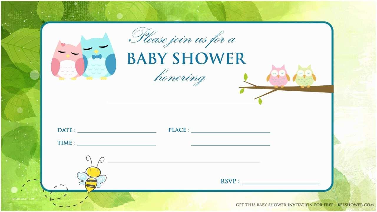 Free Baby Shower Invitation Free Printable Baby Owl Baby Shower Invitation