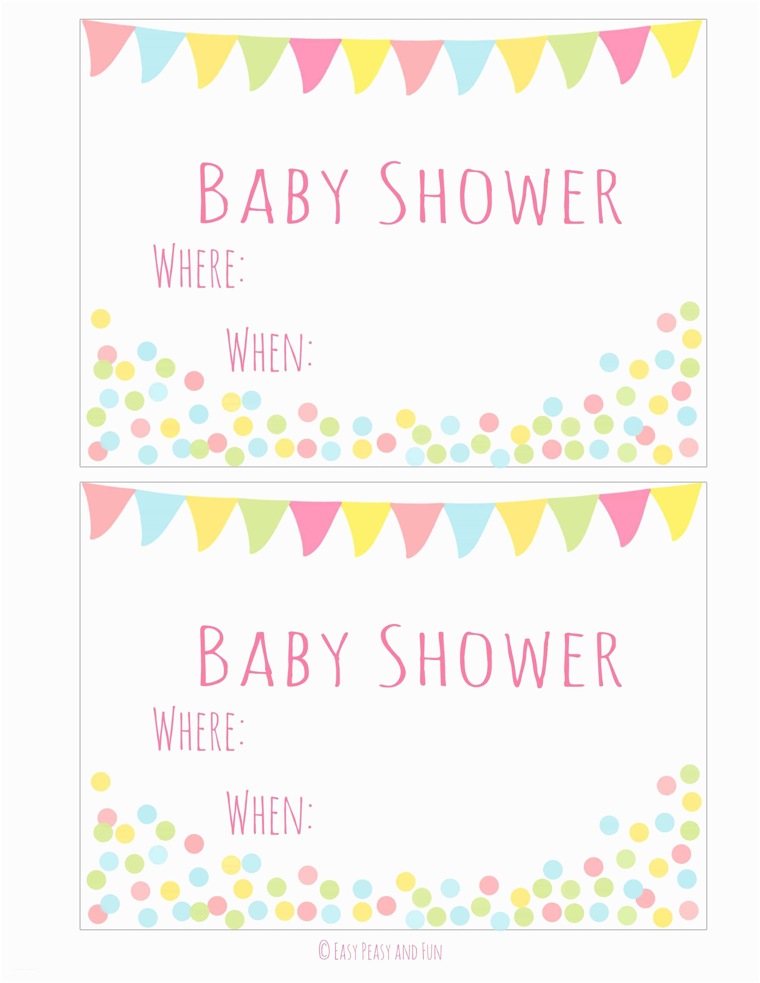 Free Baby Shower Invitation Free Printable Baby Shower Invitation Easy Peasy and Fun