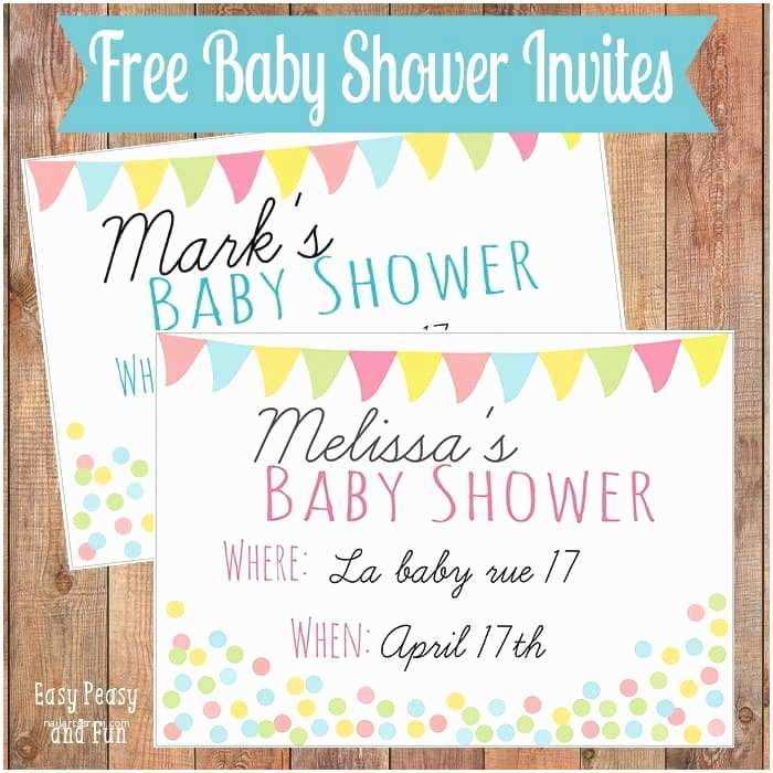 Free Baby Shower Invitation Free Printable Baby Shower Invitation Easy Peasy and Fun